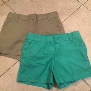 J.Crew Lot of 2 Weathered green kelly green cotton